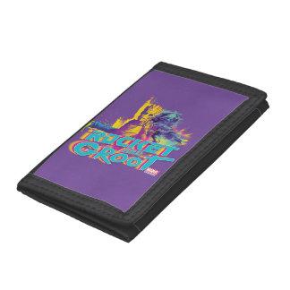 Guardians of the Galaxy   Rocket & Groot Neon Art Tri-fold Wallets