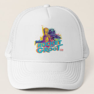 Guardians of the Galaxy | Rocket & Groot Neon Art Trucker Hat