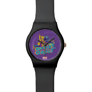 Guardians of the Galaxy | Rocket & Groot Neon Art Wrist Watches
