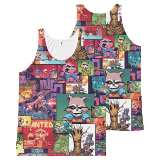 Guardians of the Galaxy | Rocket & Groot Pattern All-Over-Print Tank Top