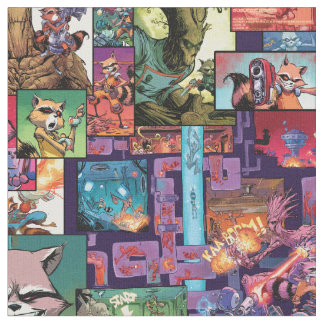 Guardians of the Galaxy | Rocket & Groot Pattern Fabric