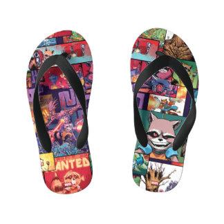 Guardians of the Galaxy | Rocket & Groot Pattern Kid's Flip Flops