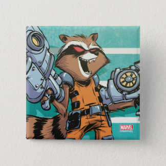 Guardians of the Galaxy | Rocket Mugshot 2 Inch Square Button