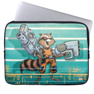 Guardians of the Galaxy   Rocket Mugshot Laptop Sleeve