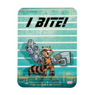 Guardians of the Galaxy   Rocket Mugshot Magnet
