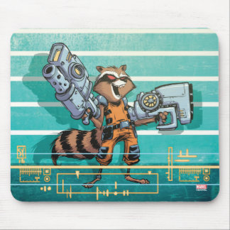 Guardians of the Galaxy | Rocket Mugshot Mouse Pad