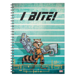 Guardians of the Galaxy | Rocket Mugshot Spiral Notebook