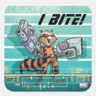 Guardians of the Galaxy | Rocket Mugshot Square Sticker