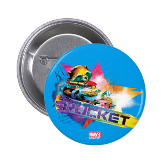 Guardians of the Galaxy | Rocket Neon Graphic 2 Inch Round Button