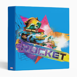 Guardians of the Galaxy | Rocket Neon Graphic 3 Ring Binder