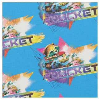 Guardians of the Galaxy | Rocket Neon Graphic Fabric
