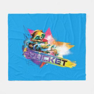 Guardians of the Galaxy | Rocket Neon Graphic Fleece Blanket