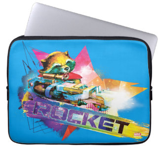 Guardians of the Galaxy   Rocket Neon Graphic Laptop Sleeve