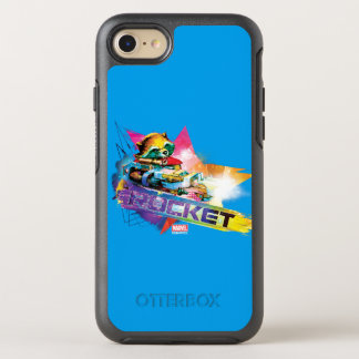 Guardians of the Galaxy | Rocket Neon Graphic OtterBox Symmetry iPhone 7 Case