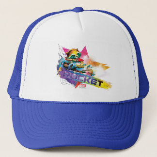 Guardians of the Galaxy | Rocket Neon Graphic Trucker Hat