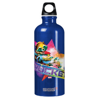 Guardians of the Galaxy | Rocket Neon Graphic Water Bottle