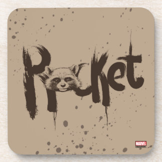 Guardians of the Galaxy   Rocket Painted Name Coaster