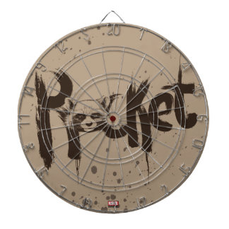 Guardians of the Galaxy   Rocket Painted Name Dart Board
