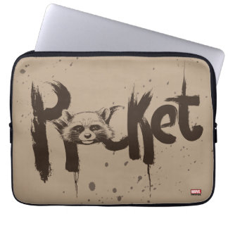 Guardians of the Galaxy | Rocket Painted Name Laptop Sleeve