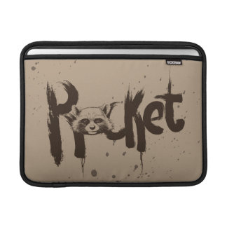 Guardians of the Galaxy | Rocket Painted Name MacBook Sleeve