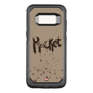 Guardians of the Galaxy | Rocket Painted Name OtterBox Commuter Samsung Galaxy S8 Case