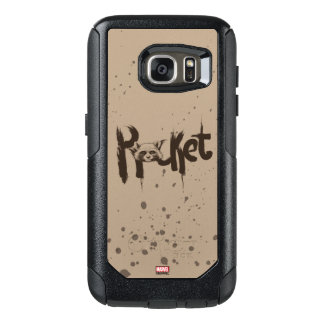 Guardians of the Galaxy | Rocket Painted Name OtterBox Samsung Galaxy S7 Case