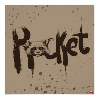 Guardians of the Galaxy | Rocket Painted Name Poster