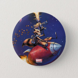 Guardians of the Galaxy | Rocket Riding Missile 2 Inch Round Button