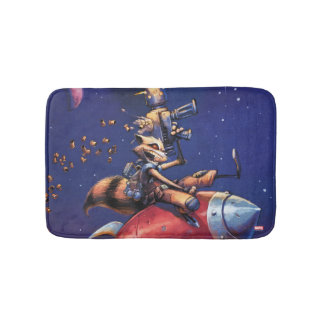 Guardians of the Galaxy | Rocket Riding Missile Bath Mat