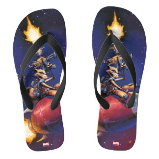 Guardians of the Galaxy | Rocket Riding Missile Flip Flops