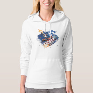 Guardians of the Galaxy   Rocket Riding Missile Hoodie