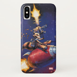 Guardians of the Galaxy | Rocket Riding Missile iPhone X Case