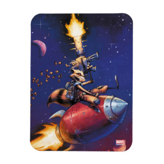 Guardians of the Galaxy   Rocket Riding Missile Magnet