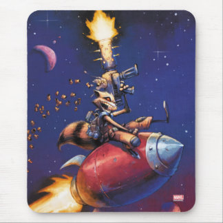 Guardians of the Galaxy | Rocket Riding Missile Mouse Pad