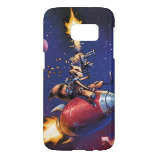Guardians of the Galaxy | Rocket Riding Missile Samsung Galaxy S7 Case