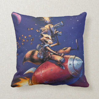 Guardians of the Galaxy | Rocket Riding Missile Throw Pillow