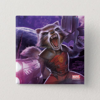 Guardians of the Galaxy | Rocket With Guns 2 Inch Square Button