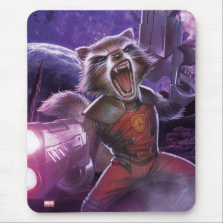 Guardians of the Galaxy   Rocket With Guns Mouse Pad