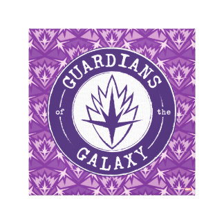 Guardians of the Galaxy | Round Vintage Logo Canvas Print