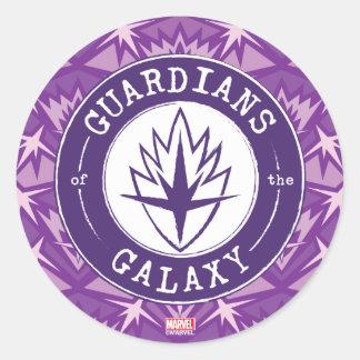 Guardians of the Galaxy | Round Vintage Logo Classic Round Sticker