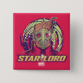 Guardians of the Galaxy   Star-Lord Badge 2 Inch Square Button