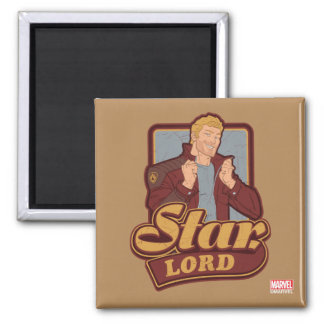 Guardians of the Galaxy | Star-Lord Cartoon Icon Magnet