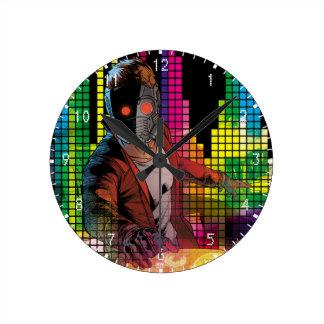 Guardians of the Galaxy | Star-Lord DJ Round Clock
