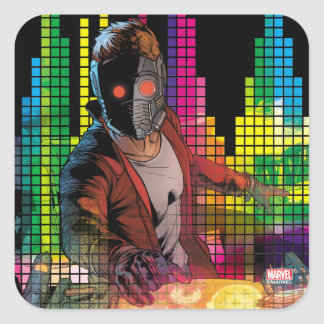 Guardians of the Galaxy | Star-Lord DJ Square Sticker