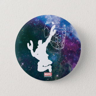 Guardians of the Galaxy | Star-Lord Galaxy Cutout 2 Inch Round Button