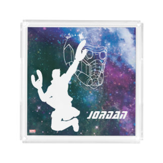 Guardians of the Galaxy | Star-Lord Galaxy Cutout Acrylic Tray