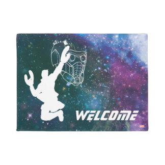 Guardians of the Galaxy | Star-Lord Galaxy Cutout Doormat