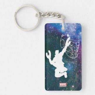 Guardians of the Galaxy | Star-Lord Galaxy Cutout Double-Sided Rectangular Acrylic Keychain
