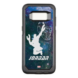 Guardians of the Galaxy | Star-Lord Galaxy Cutout OtterBox Commuter Samsung Galaxy S8 Case