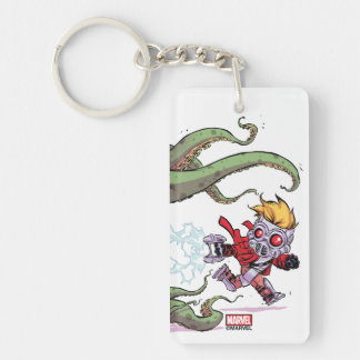 Guardians of the Galaxy | Star-Lord Gets Away Double-Sided Rectangular Acrylic Keychain